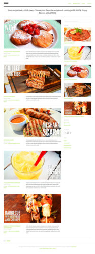 Recipe Wordpress Theme Food Blog iCook Tesla Themes Food Blog or Recipe Wordpress Theme   iCook