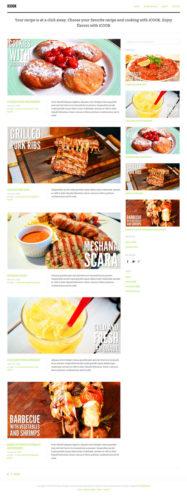 Click here to demo Food Blog Recipe WordPress Theme - iCook