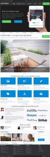 eCommerce Portfolio StartingUp WordPress theme WPZoom eCommerce Portfolio Wordpress Theme   StartingUp