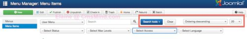 cmsmind joomla 3 3 new things 2014 2 Joomla 3.3   Some Changes in the Administrator Panel Menu Manager