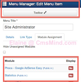 cmsmind joomla 3 3 new things 2014 4 Joomla 3.3   Some Changes in the Administrator Panel Menu Manager