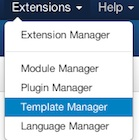 Joomla 3.3 Extensions Template Manager