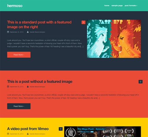 Free clean simple wordpress theme hermoso Clean, Simple and Free WordPress Themes