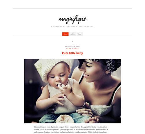 Free clean simple wordpress theme manifique Clean, Simple and Free WordPress Themes
