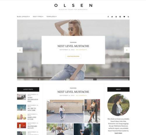 Clean Simple Free WordPress THeme Olsen