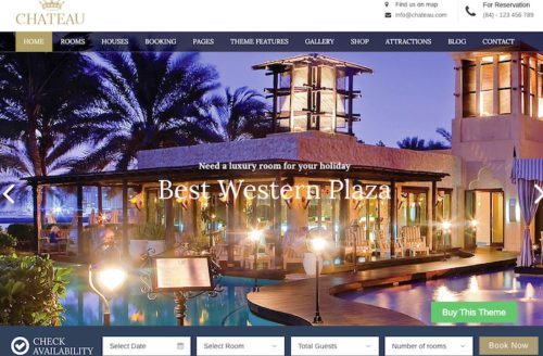 Hotel Site WordPress Theme Chateau