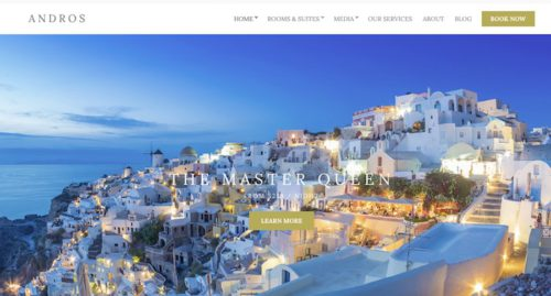 Hotel Site Theme - Andros